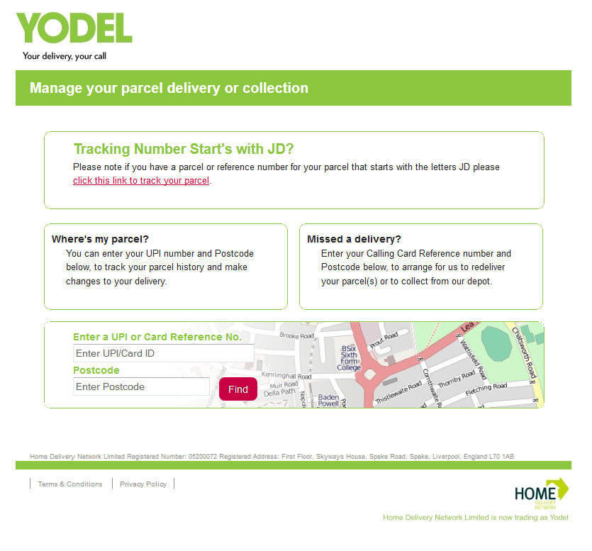 YODEL website doesn't know how to use apostrophes